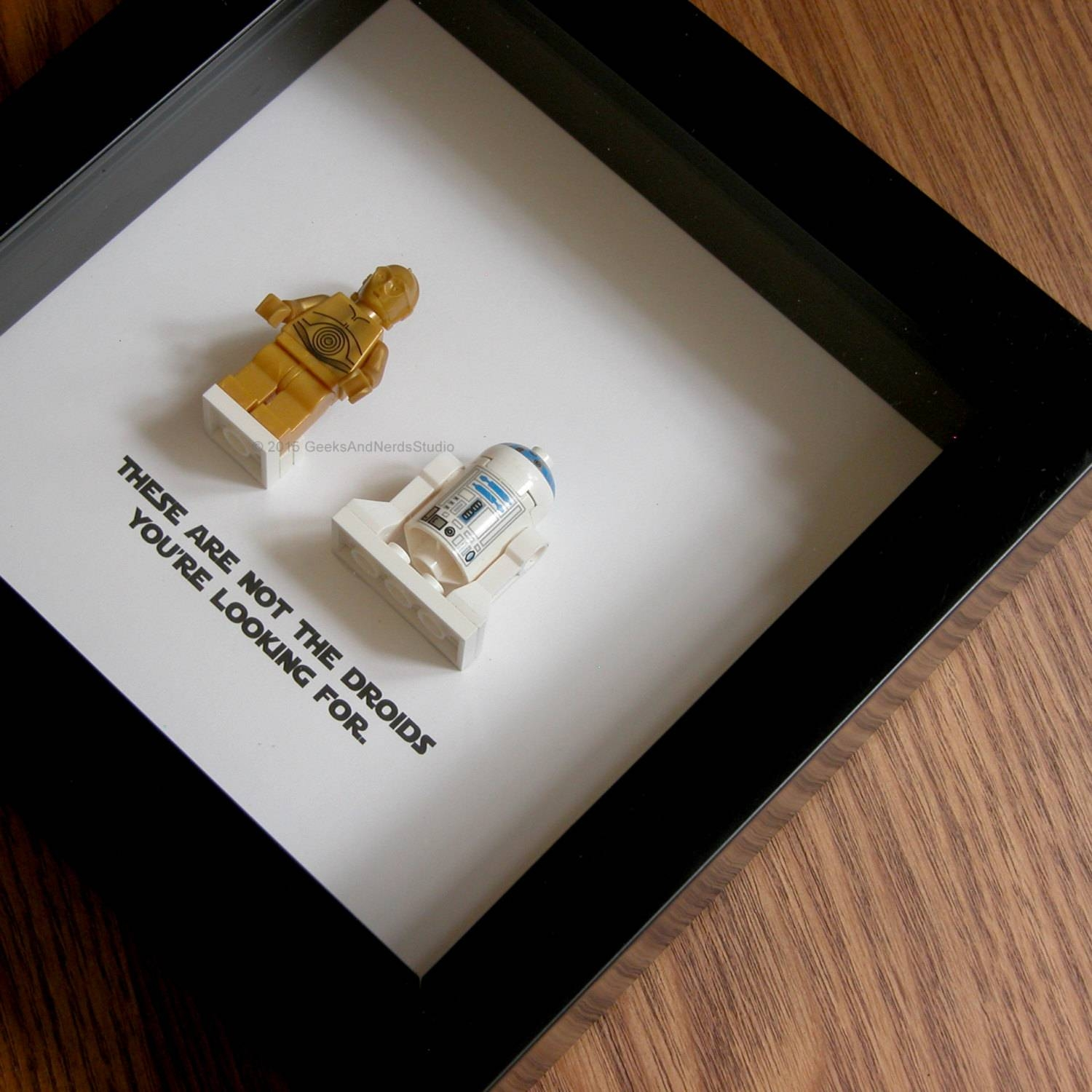 Star Wars Art Lego R2D2 And C3Po Wedding Gift Wall Decor Inside Current Lego Star Wars Wall Art (View 17 of 20)