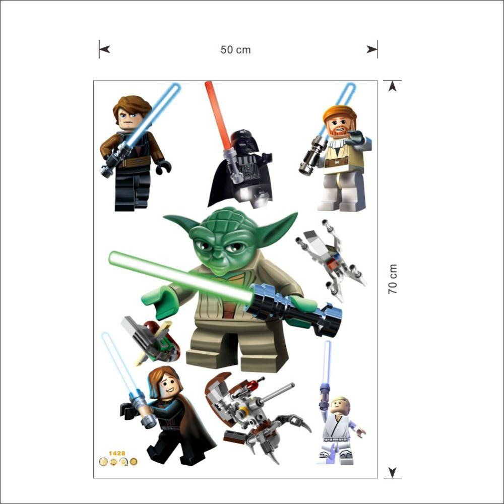 Star Wars Lego Movie Posters Wall Stickers Decals Art For Baby With Most Up To Date Lego Star Wars Wall Art (View 10 of 20)