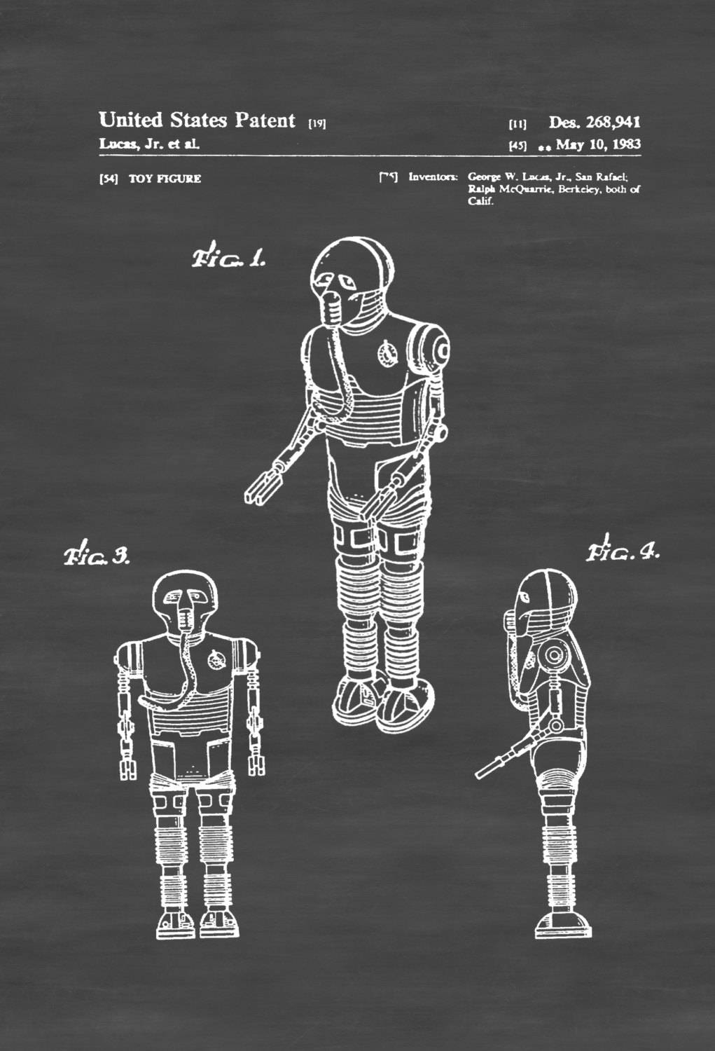 Star Wars Medical Droid Patent Poster – Patent Print, Wall Decor With Recent Medical Wall Art (View 20 of 20)