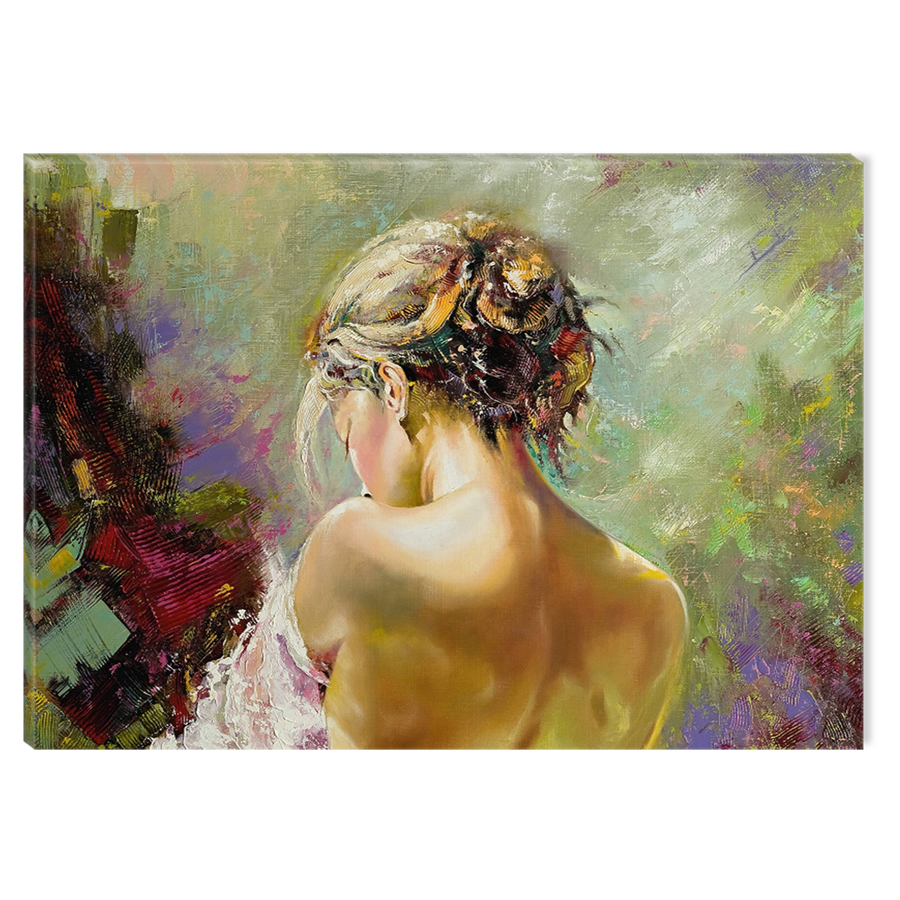 Startonight Canvas Wall Art Sexy Woman's Back Usa Design For Home Throughout Newest Sensual Wall Art (View 17 of 20)