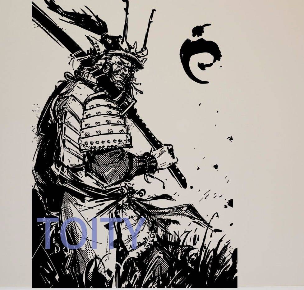 Sticker Mural Picture – More Detailed Picture About Wall Room Throughout Most Current Samurai Wall Art (View 13 of 20)
