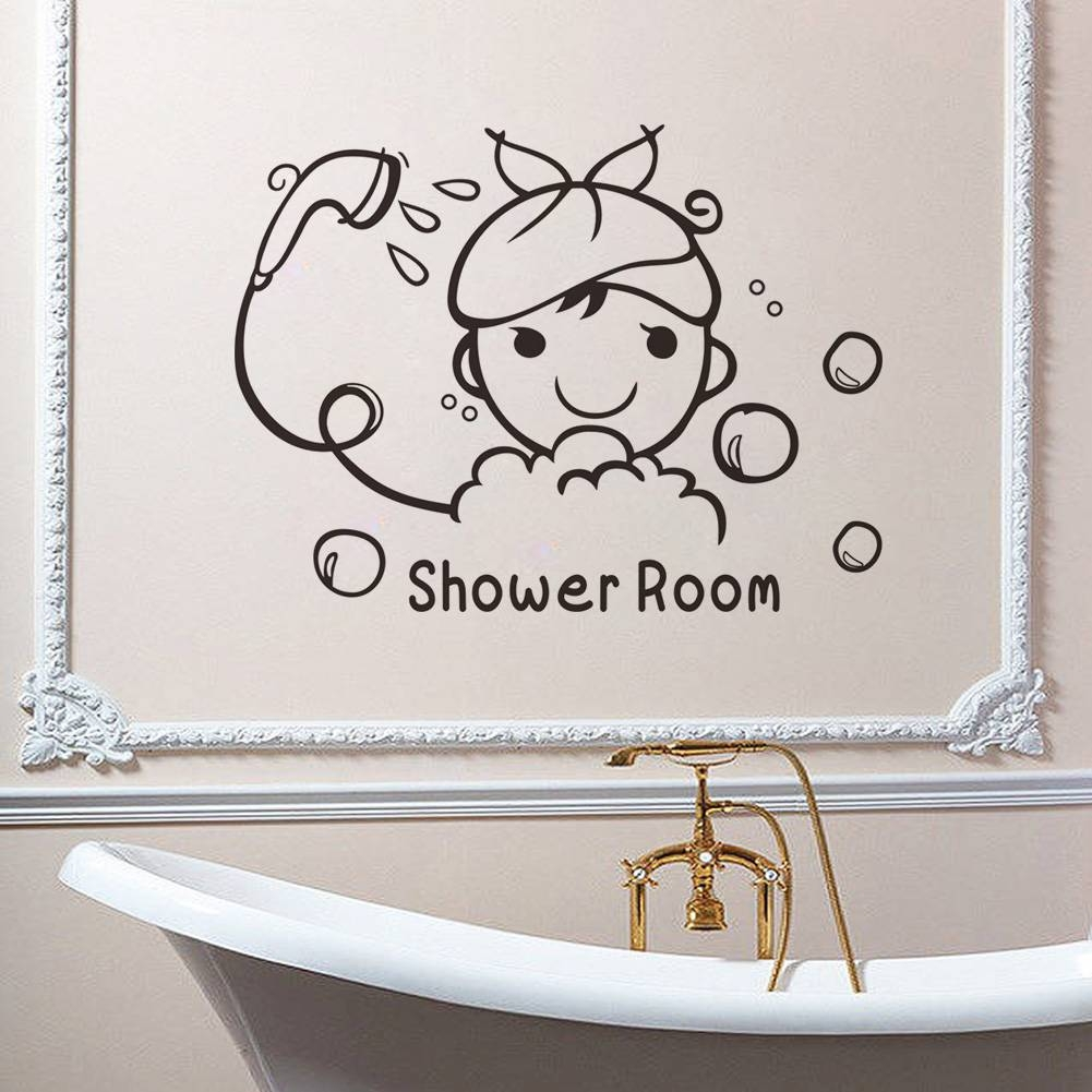 Stickers Wrap Picture – More Detailed Picture About Shower Room Inside 2017 Shower Room Wall Art (View 14 of 15)