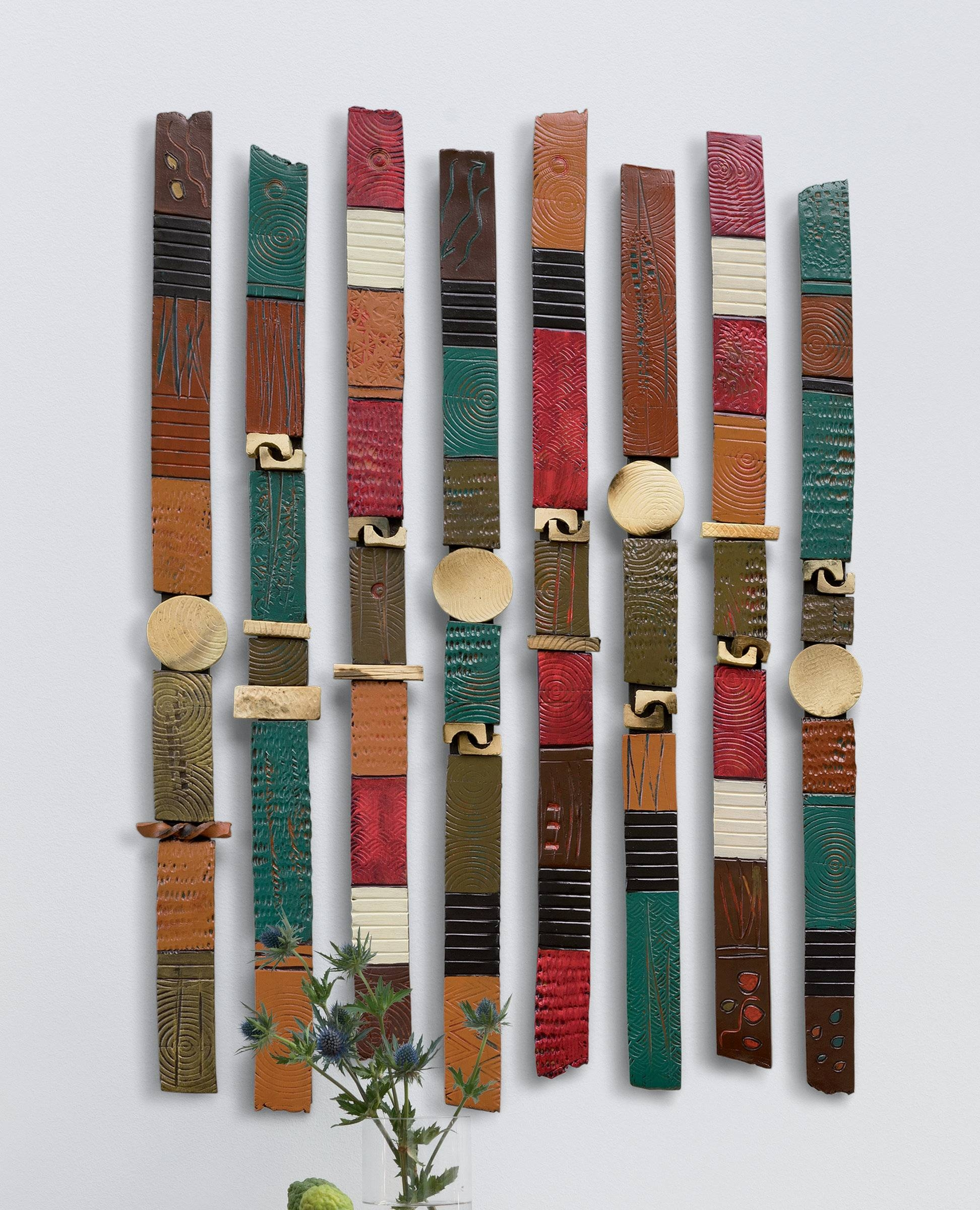 Story Sticksrhonda Cearlock (ceramic Wall Sculpture) | Artful Home Intended For 2017 Large Ceramic Wall Art (View 4 of 25)
