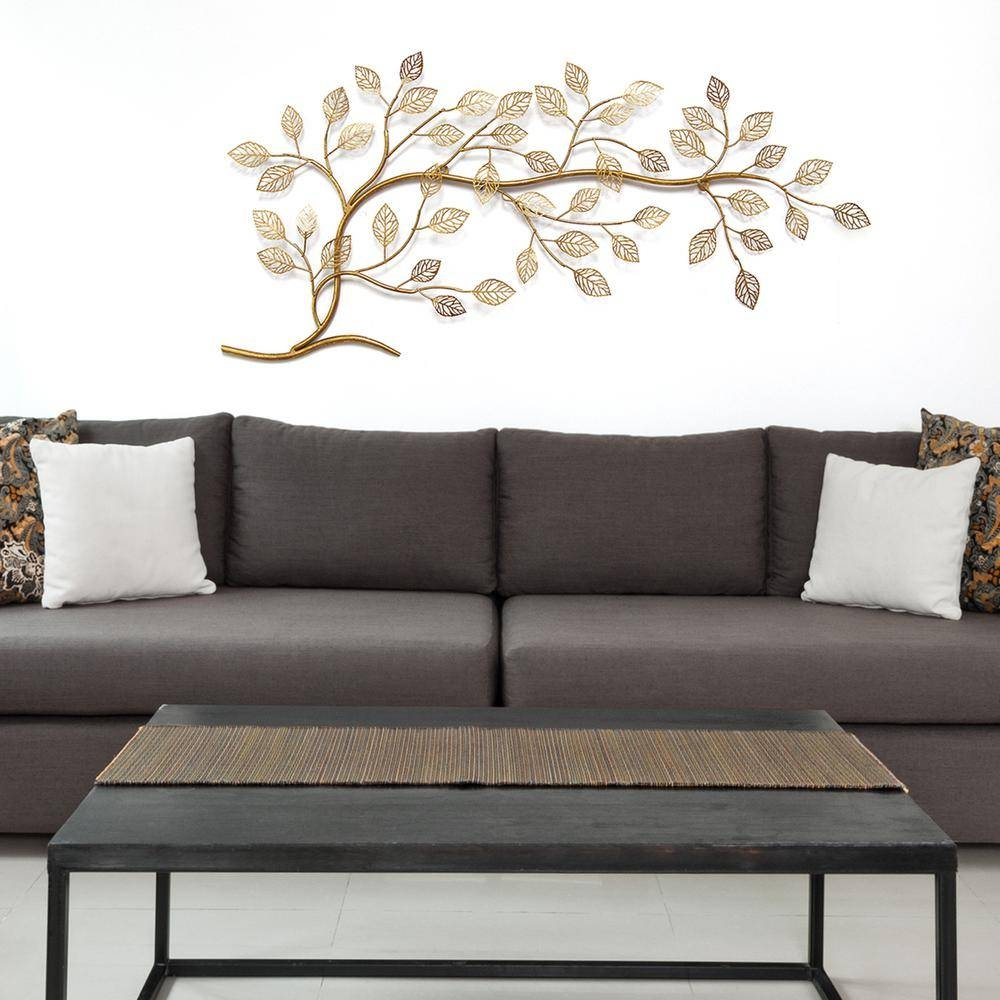 Stratton Home Decor Golden Tree Branch Metal Wall Decor S01296 Regarding Latest Tree Branch Wall Art (Gallery 15 of 20)