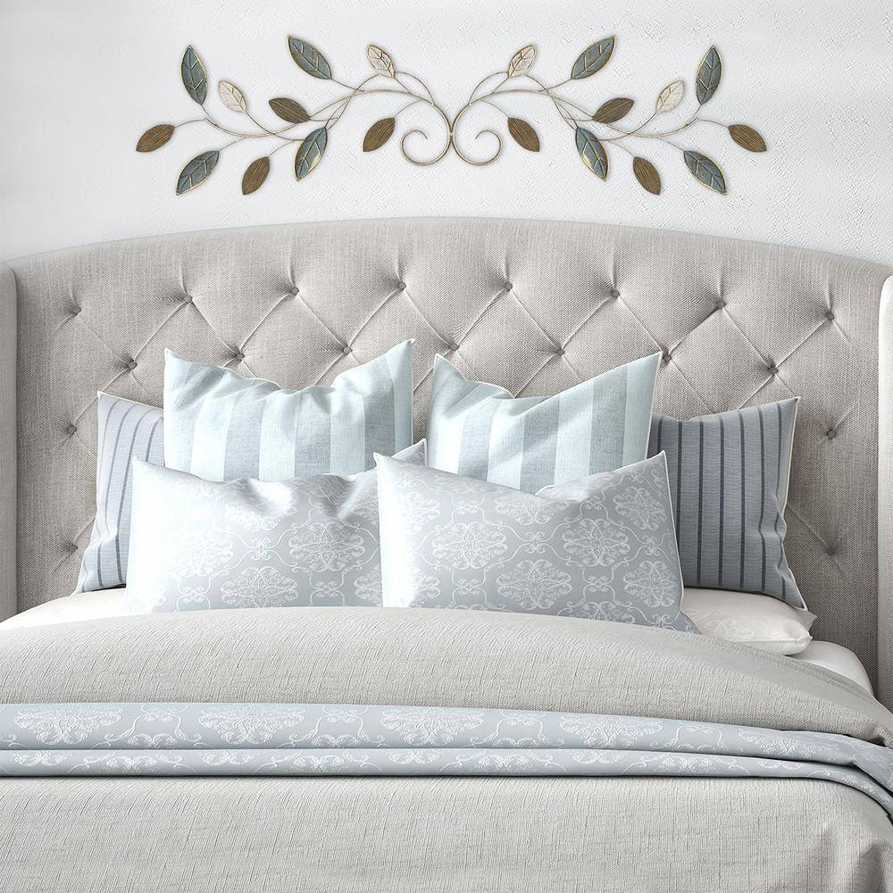 Stratton Home Decor Graceful Over The Door Metal Wall Decor S07760 For Most Current Over The Bed Wall Art (View 8 of 20)