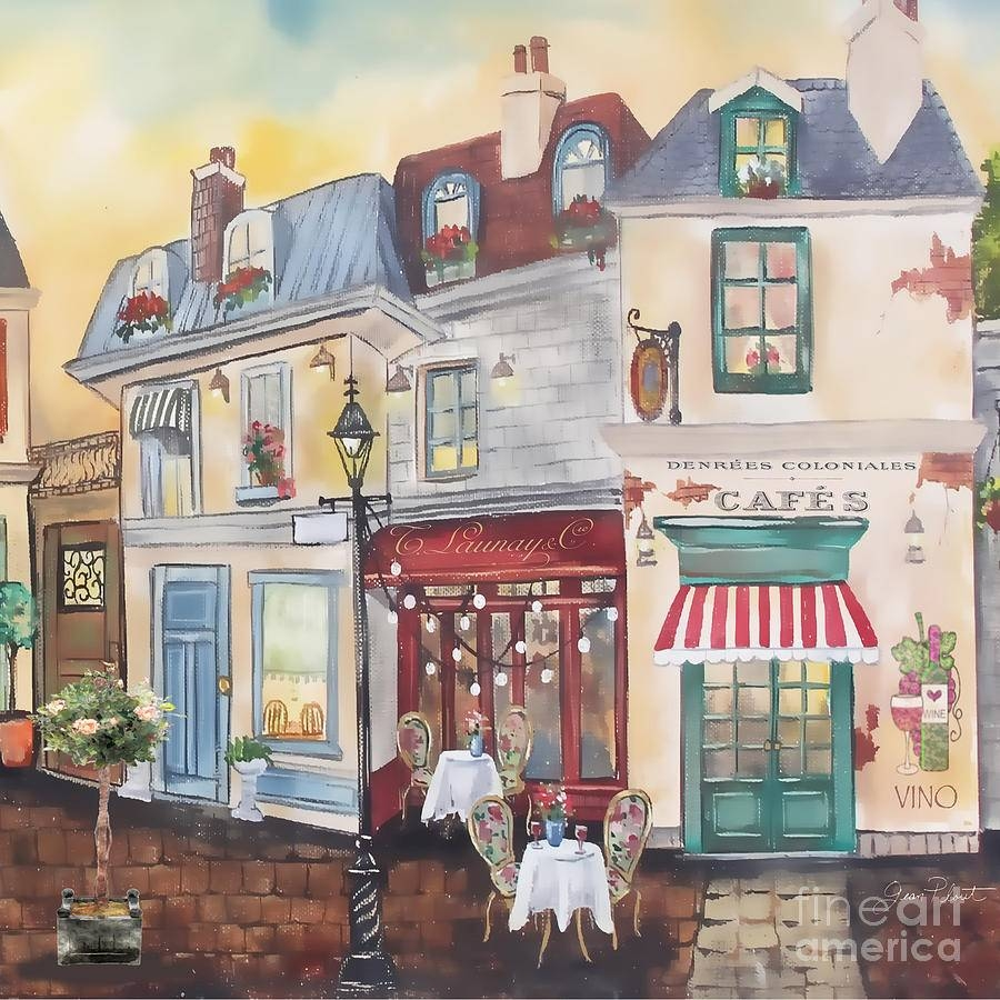 Street Scene Wall Art French Street Scene Jp3206 Paintingjean With Regard To Most Current Street Scene Wall Art (View 15 of 25)