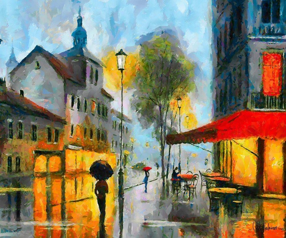 Street Scene Wall Art Popular Street Scene Paintings Buy Cheap Throughout 2018 Street Scene Wall Art (View 17 of 25)