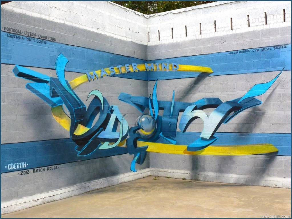 Street Wall Art Illusions Latters – Graffiti Art Collection Inside Most Recently Released 3d Wall Art Illusions (View 5 of 20)