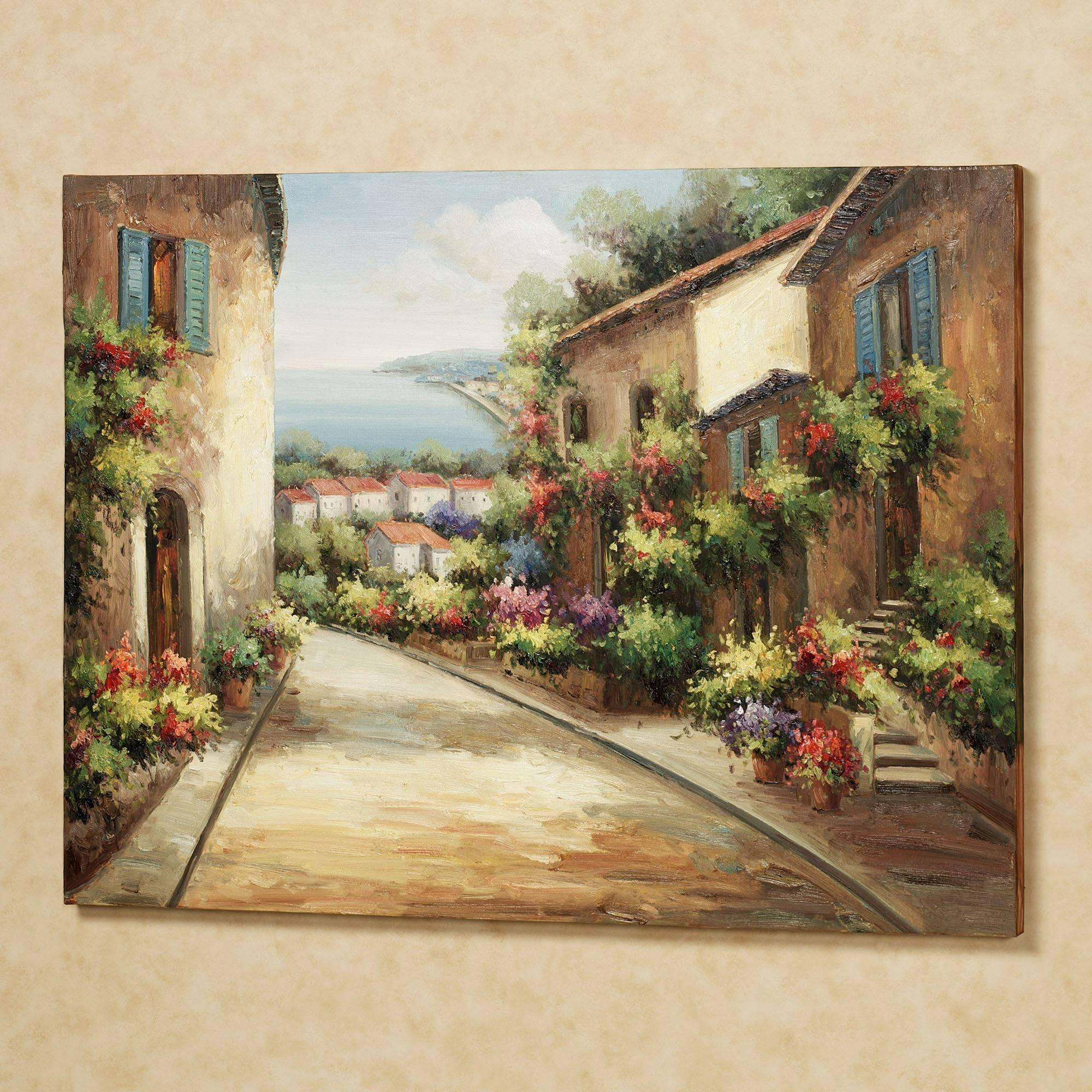 Streets Of Tuscany Canvas Wall Art In Most Up To Date Tuscan Wall Art Decor (View 5 of 20)