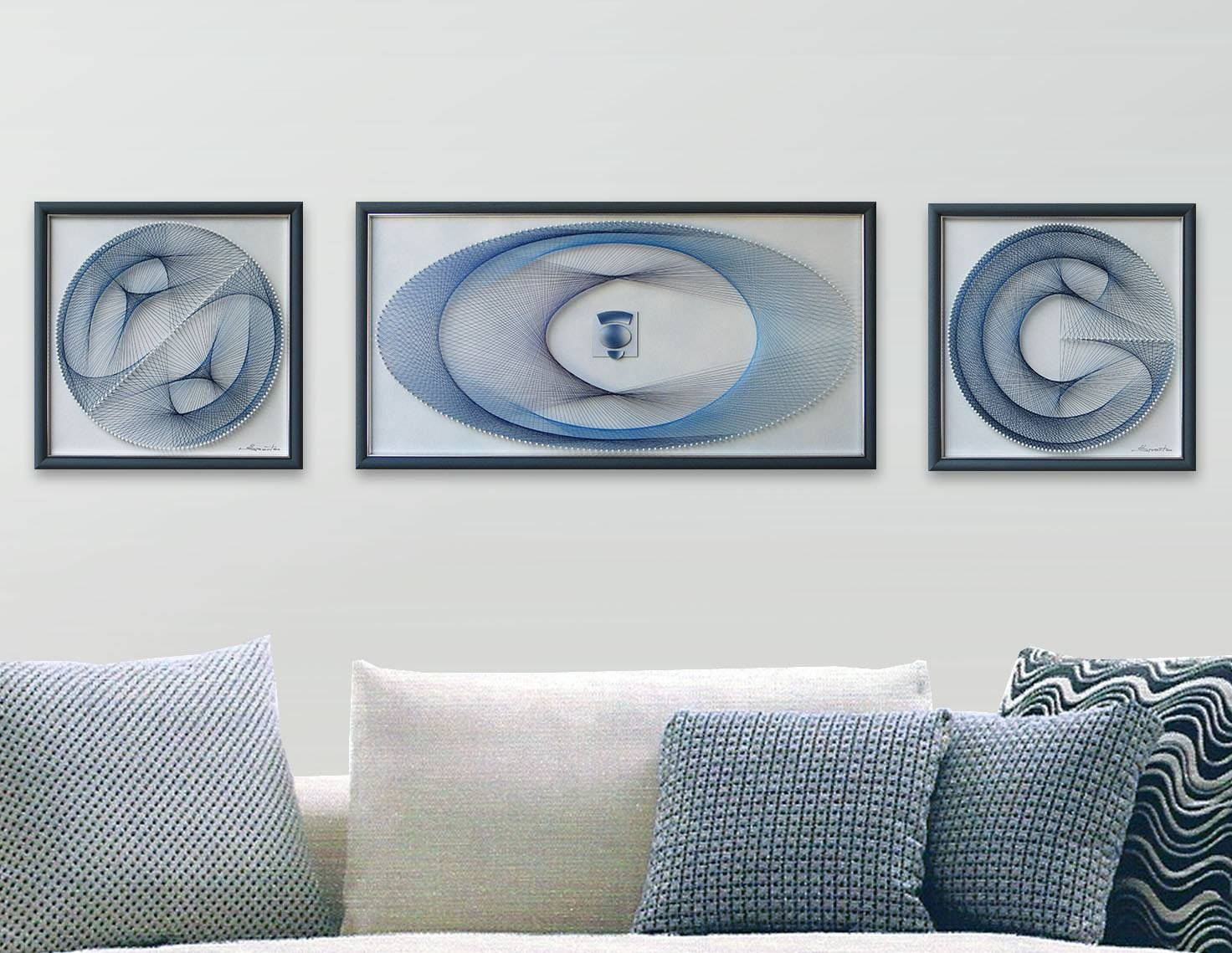 String Art Set 3D Framed Art Abstract Wall Art Beautiful In Most Popular 3D Wall Art Etsy (View 17 of 20)