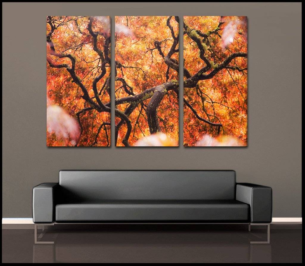 Stunning Design 3 Piece Canvas Wall Art Sumptuous Inspiration Tree within 2017 3 Piece Abstract Wall Art