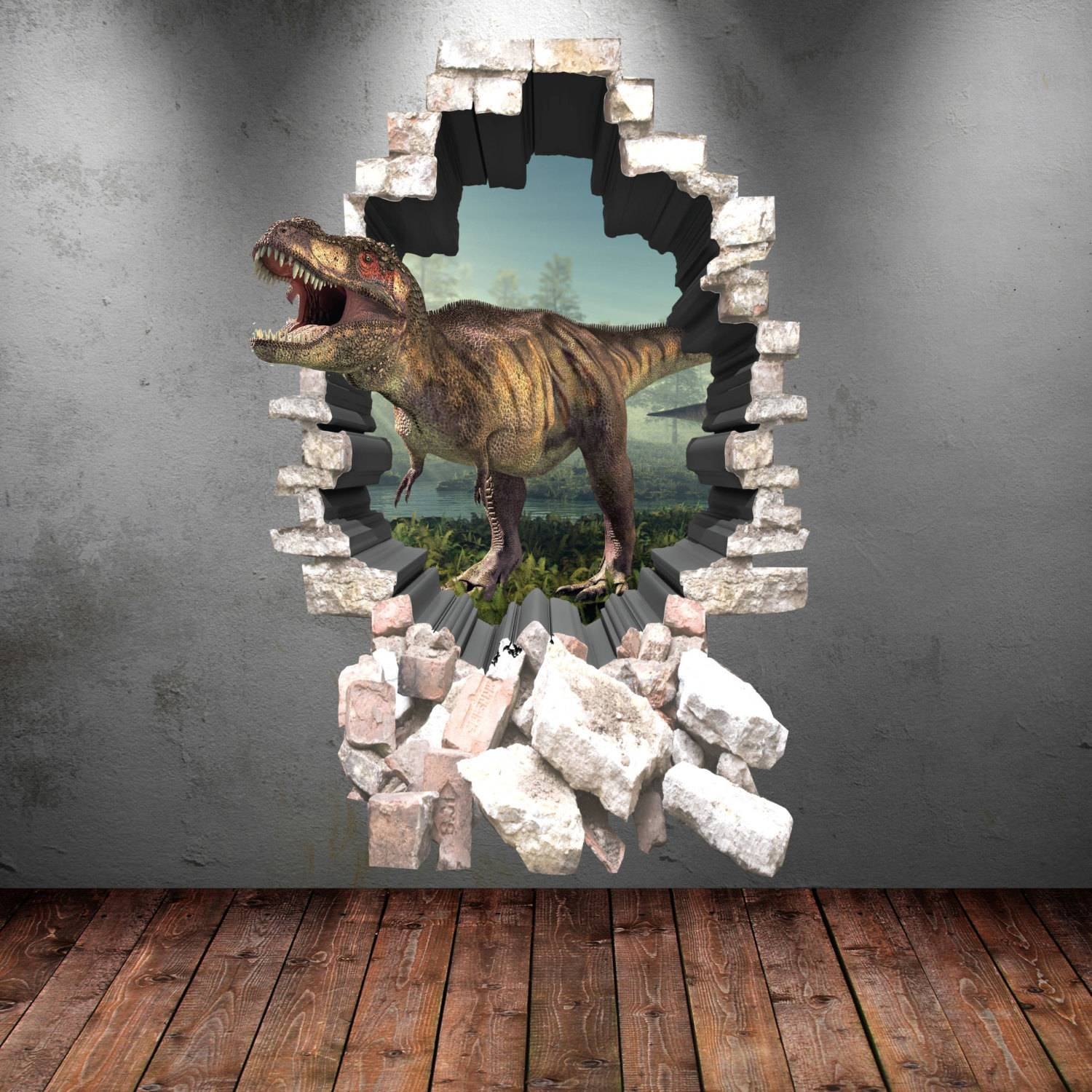 Stunning Design 3D Dinosaur Wall Art Shining Beetling Stegosaurus Regarding Current 3D Dinosaur Wall Art Decor (Gallery 10 of 20)