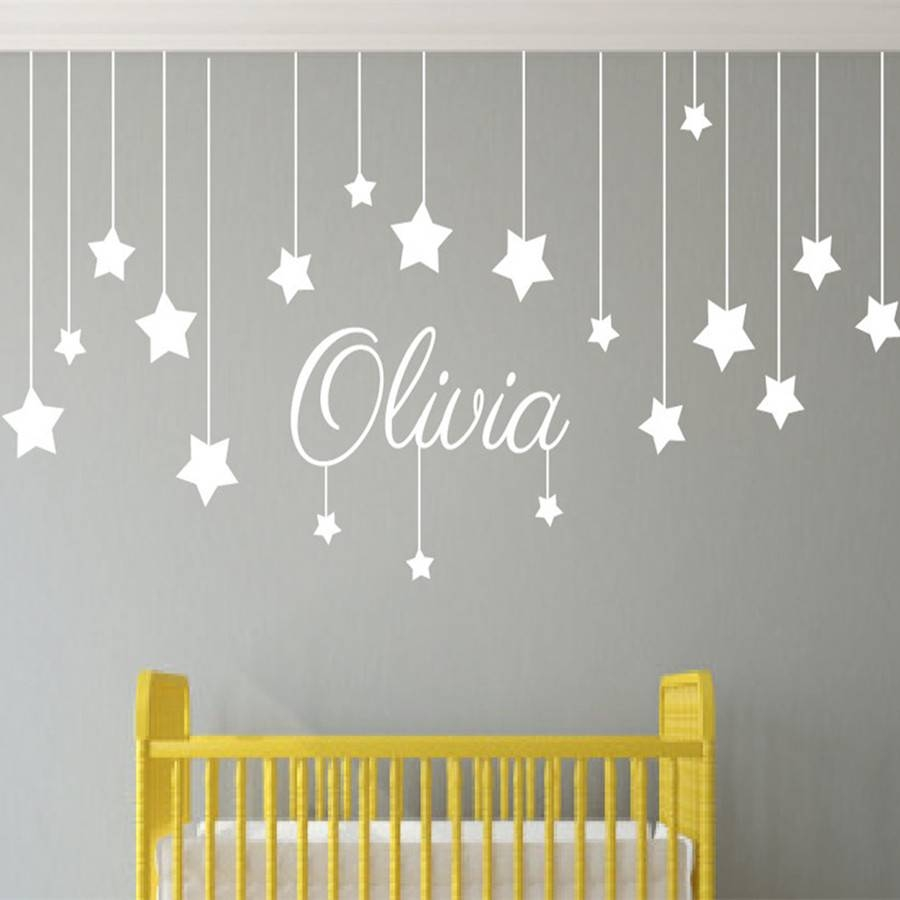 Stupendous Baby Name Wall Art Stickers Zoom Wall Design Wall Decor With Latest Baby Name Wall Art (View 2 of 25)