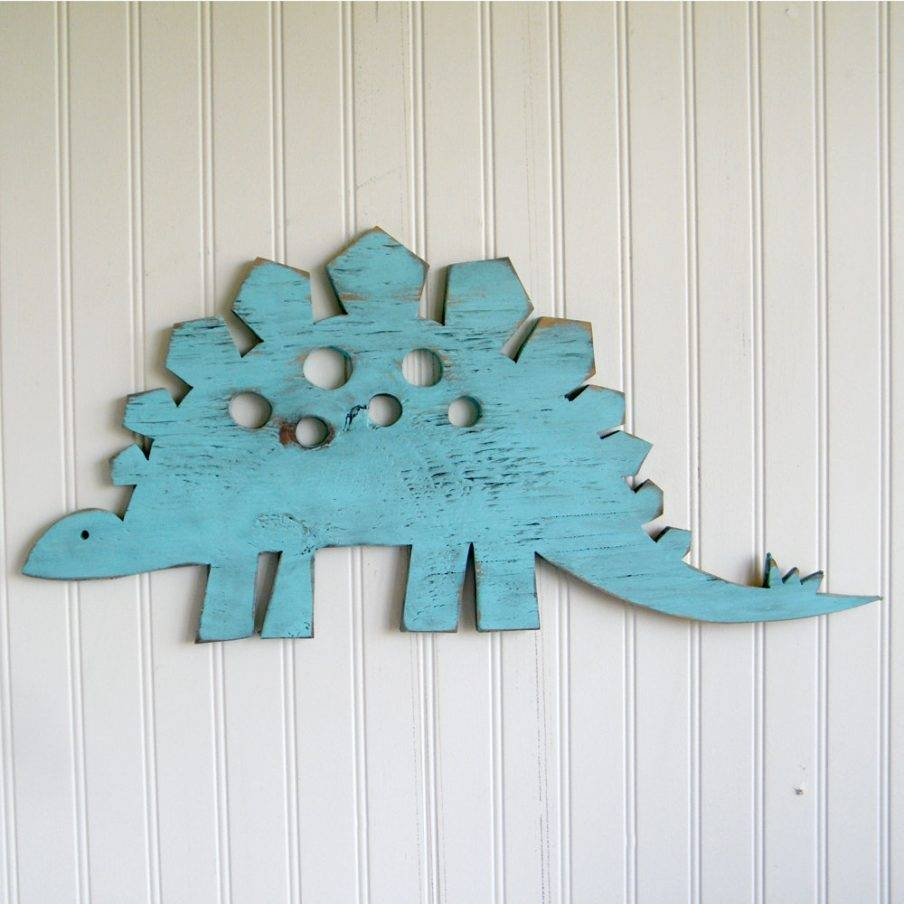Stupendous Dinosaur Wall Decor Stickers Stegosaurus Small Dinosaur Intended For Most Recent 3D Dinosaur Wall Art Decor (View 15 of 20)