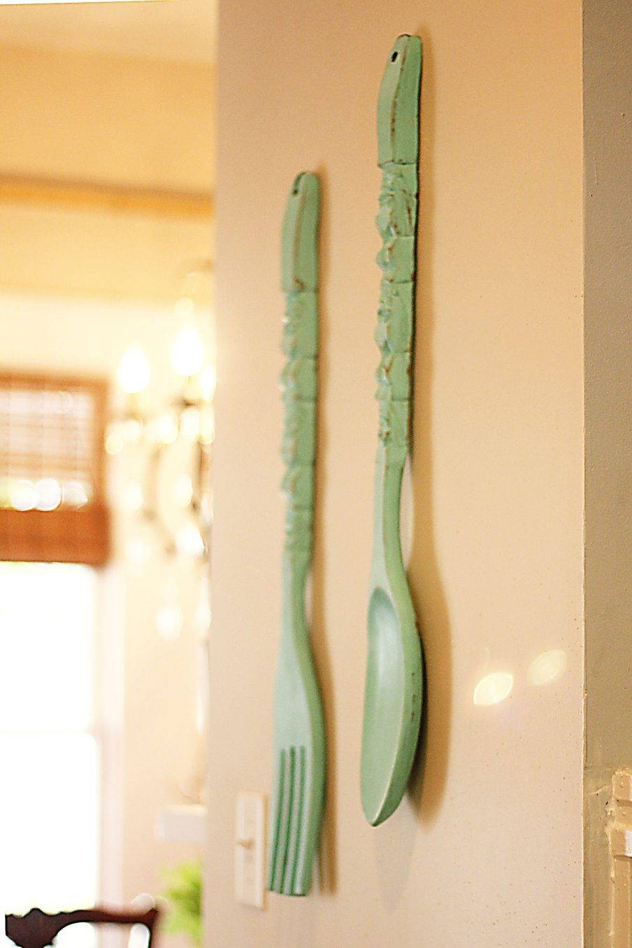 Stupendous Giant Fork Wall Decor Image Of Oversized Spoon Fork Pertaining To Most Up To Date Big Spoon And Fork Wall Decor (View 16 of 30)