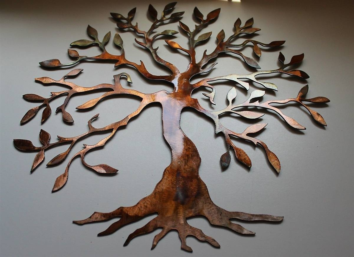 Stupendous Large Metal Tree Wall Decoration 64 Casa Cortes For Recent Large Metal Wall Art For Outdoor (View 11 of 20)