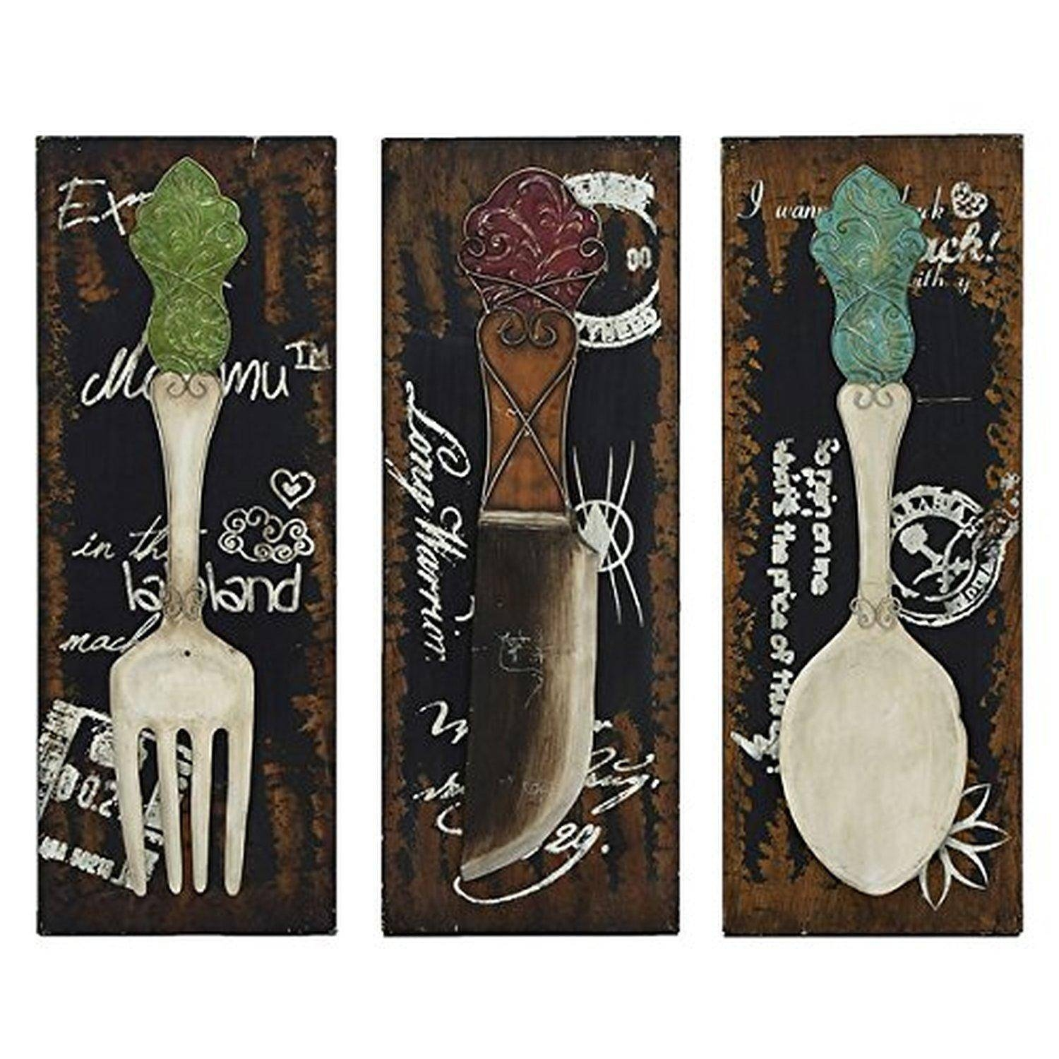 Stupendous Large Utensil Wall Decor Big Spoon And Fork Trendy Wall With Regard To Best And Newest Large Utensil Wall Art (View 20 of 20)