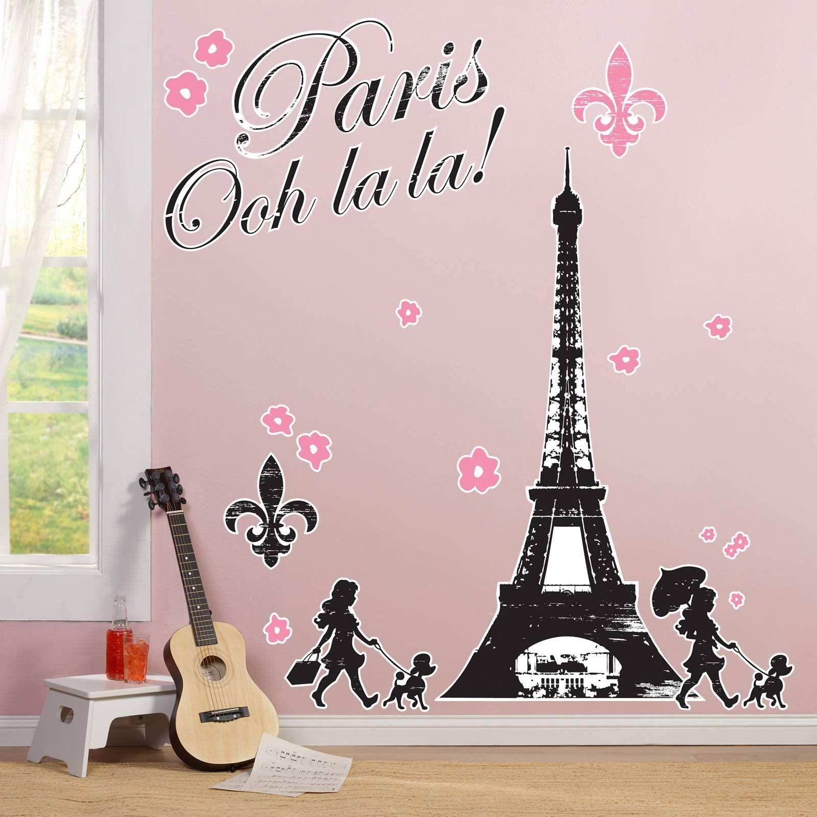 Stupendous Wall Ideas Paris Love Fashion Shopping Wall Decor Regarding Most Popular Paris Theme Nursery Wall Art (View 26 of 30)