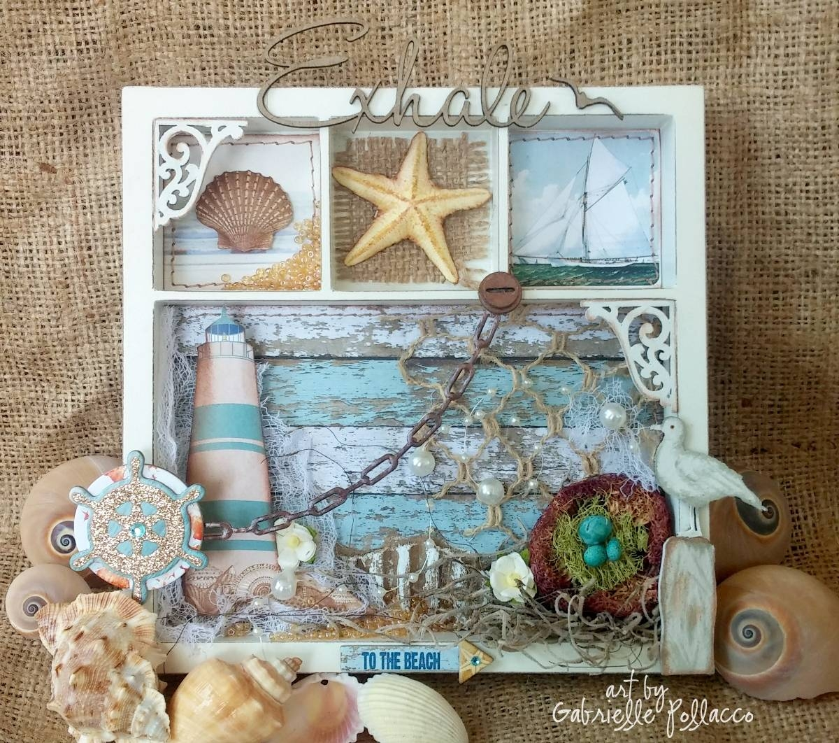 Such A Pretty Mess: Nautical/beach Themed Wall Art {bobunny Within Newest Beach Theme Wall Art (View 1 of 20)