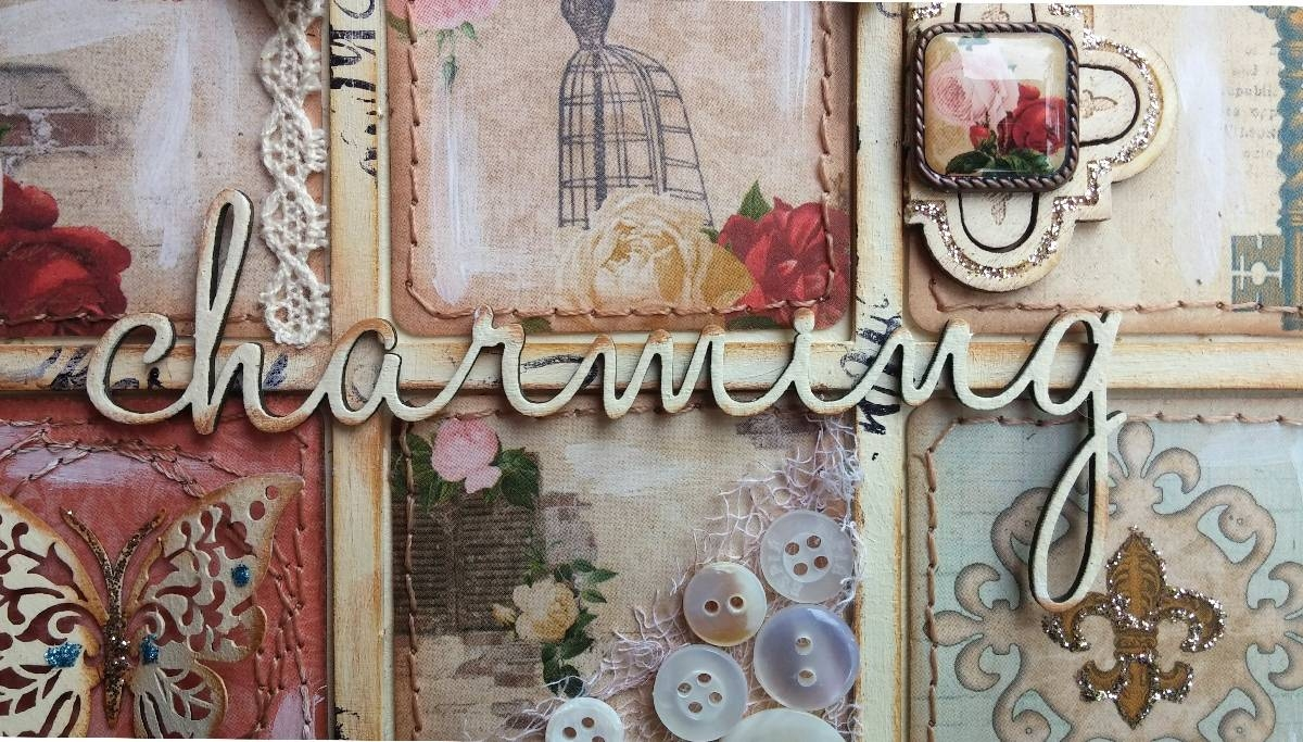 Such A Pretty Mess: Shabby Chic Wall Art {Bo Bunny & Dusty Attic} With Best And Newest Shabby Chic Wall Art (View 23 of 30)