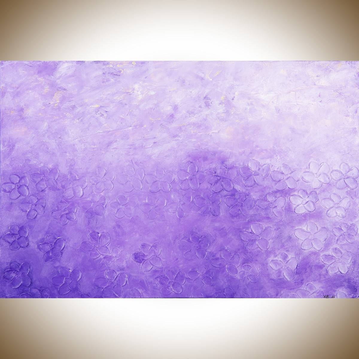 """Sunriseqiqigallery 36""""x24"""" Original Modern Abstract Wall Intended For Most Recent Purple Abstract Wall Art (View 10 of 20)"""
