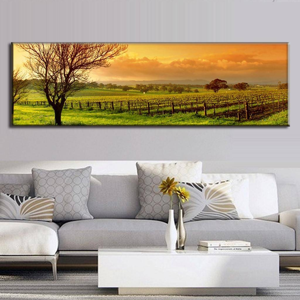 Super Large Single Picture Landscape Vineyard Canvas Printed Inside Most Recently Released Vineyard Wall Art (View 10 of 20)