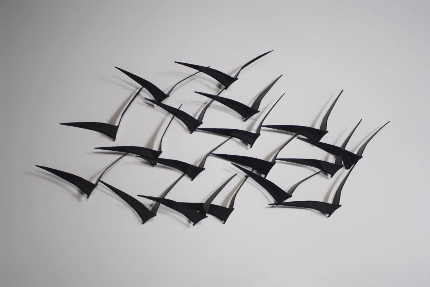 Superb Metal Sculpture Wall Art Birds Birds In Flight Metal Trendy Throughout Latest Flying Birds Metal Wall Art (View 13 of 25)