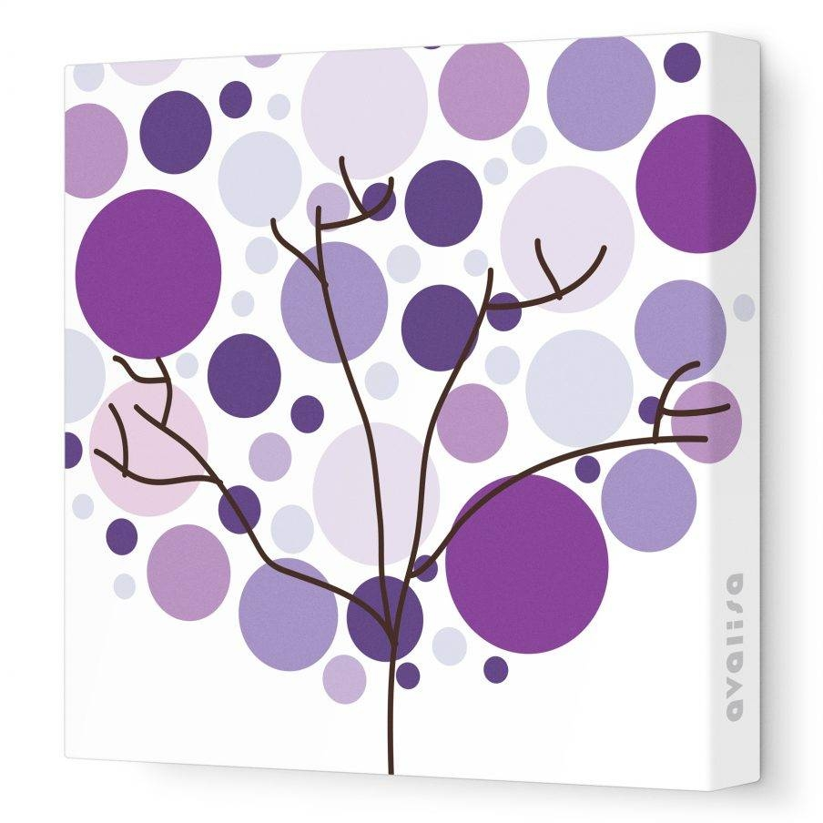 Superb Purple Floral Canvas Art Piece Canvas Wall Art Design Ideas For 2017 Purple Wall Art (View 13 of 20)