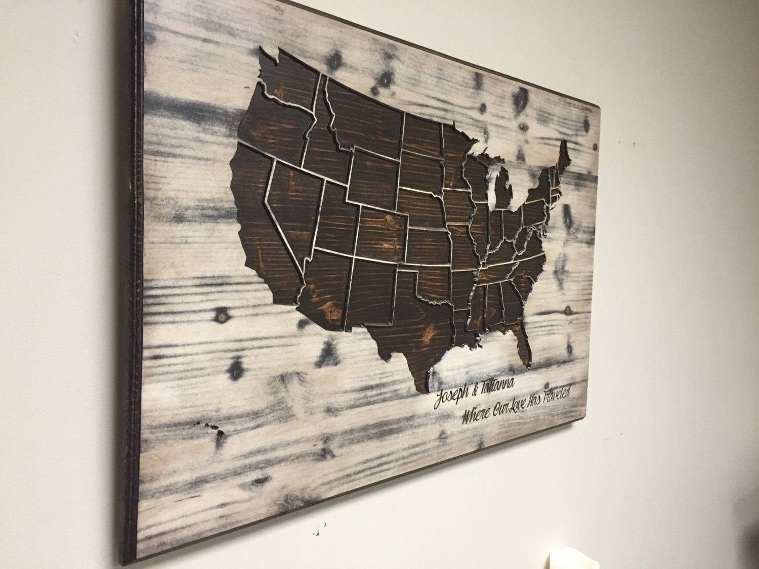 Superb United States Wall Art United States Wood Shape United Pertaining To Newest Us Map Wall Art (View 13 of 20)