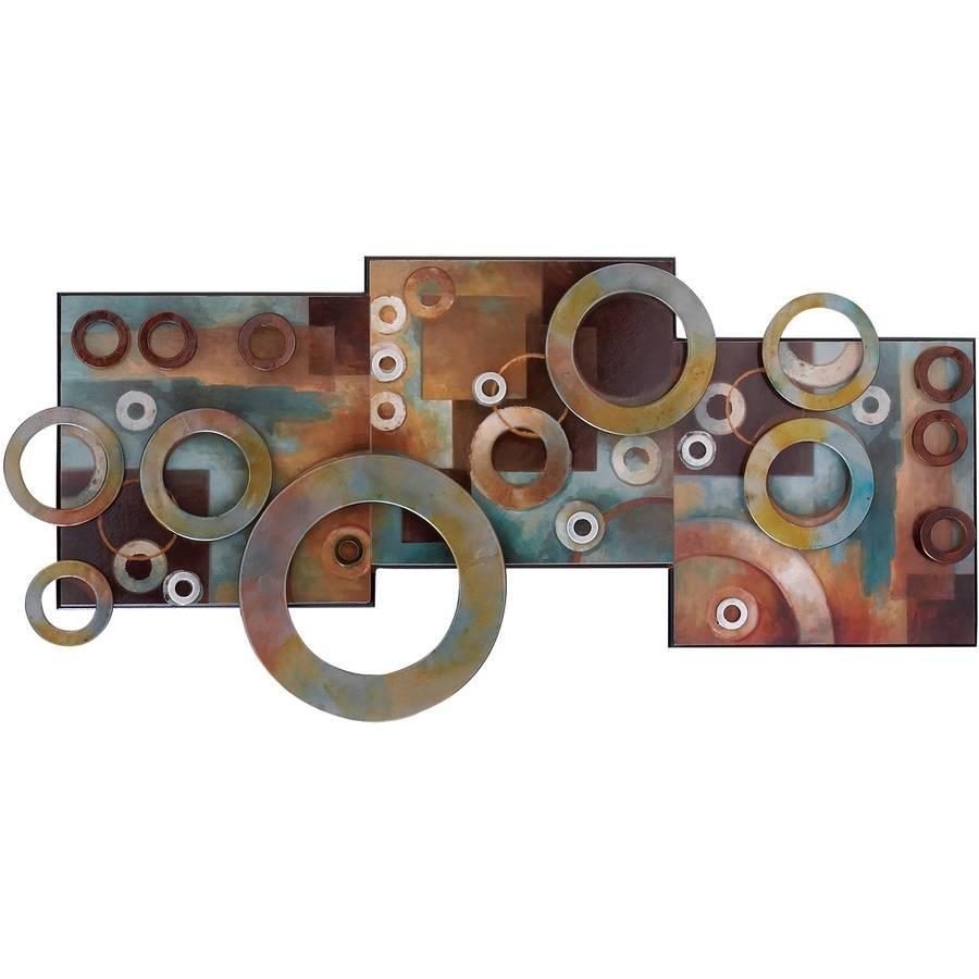 Superb Wall Decor Metal Wall Art Rope Steel Circles Metal Wall Art In Latest Circles 3d Wall Art (View 17 of 20)