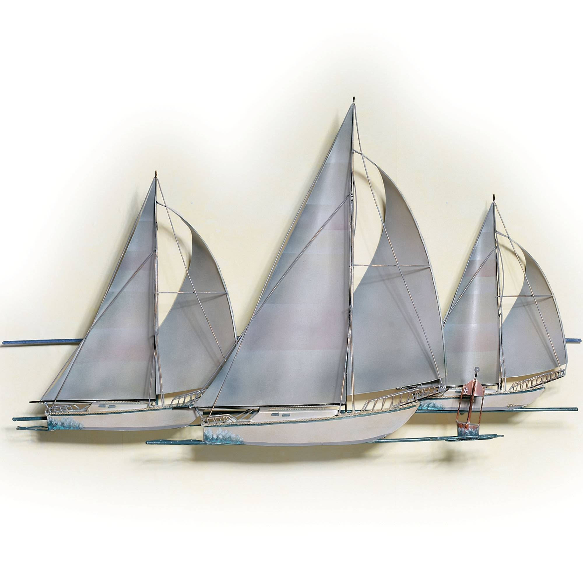 Superb Wall Decor Sailboat Metal Wall Art Metal Sailing Wall Art Pertaining To Latest Boat Wall Art (View 10 of 20)