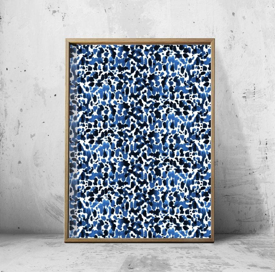 Superb Wall Design Blue Abstract Painting Navy Navy Blue Nursery For Most Recent Navy Blue Wall Art (View 12 of 20)