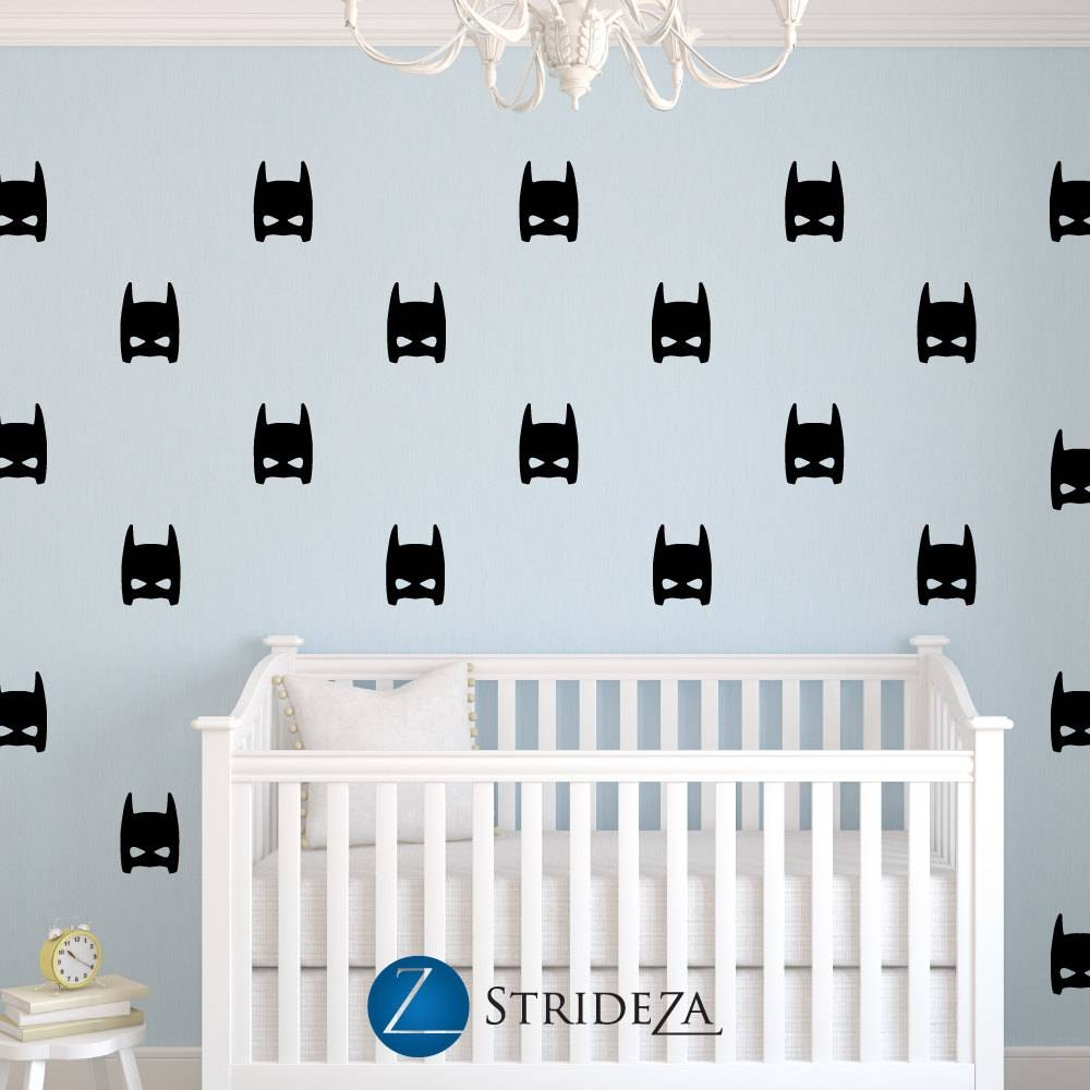 Superhero Decal Superhero Decorations Superhero Wall Decal Pertaining To Most Current Superhero Wall Art For Kids (View 23 of 25)