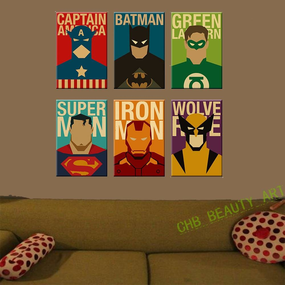 Exceptionnel Superhero Wall Decor | Roselawnlutheran Inside 2018 Superhero Wall Art For  Kids (Gallery 7 Of