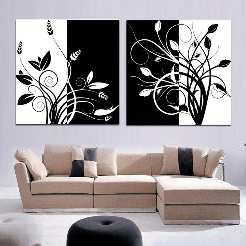 Supreme Silver Blackabstract Wall Art Black Artist Wall Art Black Throughout Latest Wall Art Deco Decals (View 8 of 20)