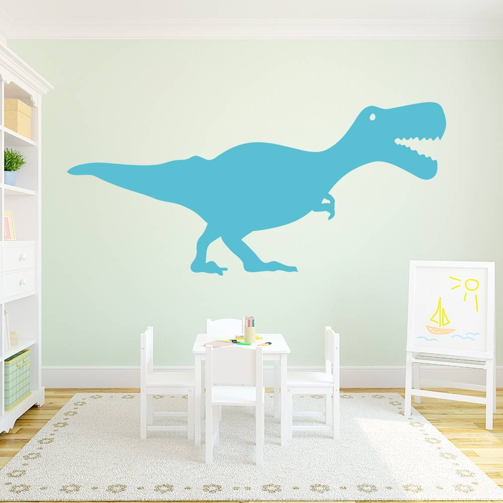 T Rex Wall Art Decal With Regard To Recent Dinosaur Wall Art For Kids (View 20 of 20)