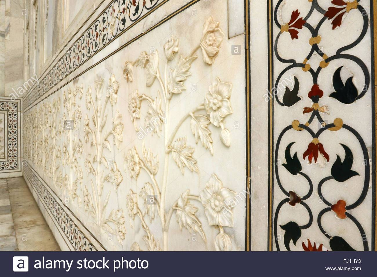 Taj Mahal Marble Art Flowers Plants Carving On Taj Mahal Marble Intended For Most Recently Released Taj Mahal Wall Art (View 23 of 25)