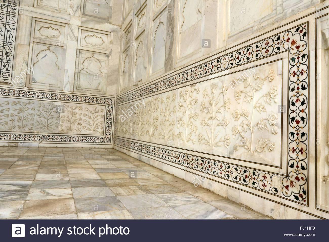 Taj Mahal Marble Art Flowers Plants Carving On Taj Mahal Marble Throughout Most Recent Taj Mahal Wall Art (View 8 of 25)