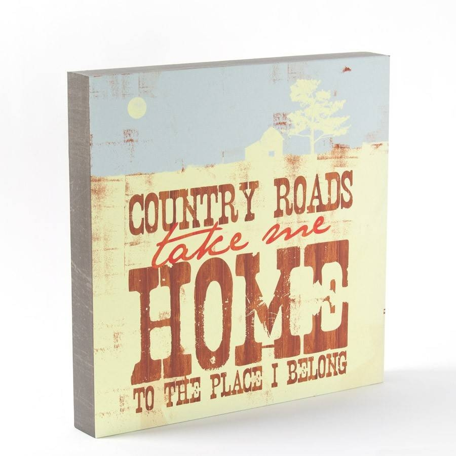 Take Me Home Country Roads Wall Art – Lyricology | Papyrus Online With Regard To 2018 Lyricology Wall Art (View 17 of 20)