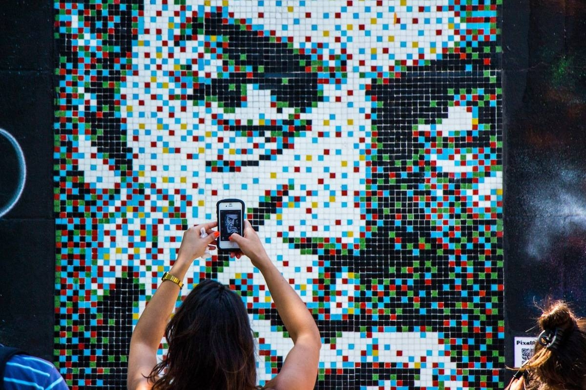 Taking It To The Streets: Pixel In Santiago | Mosaic Art Now Regarding Most Popular Pixel Mosaic Wall Art (View 15 of 20)