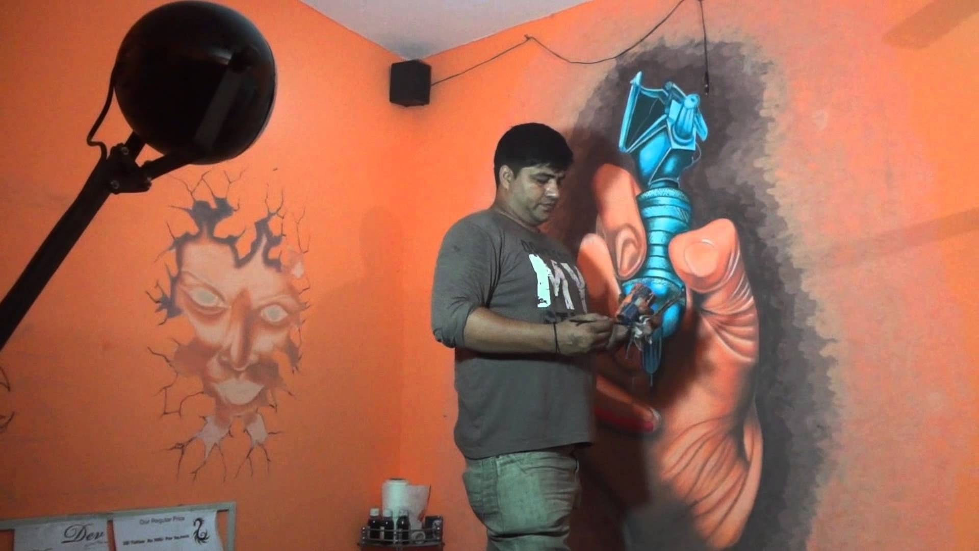 Tattoo Shop Wall Artdev 9313666999 – Youtube Pertaining To Most Up To Date Tattoos Wall Art (View 12 of 20)