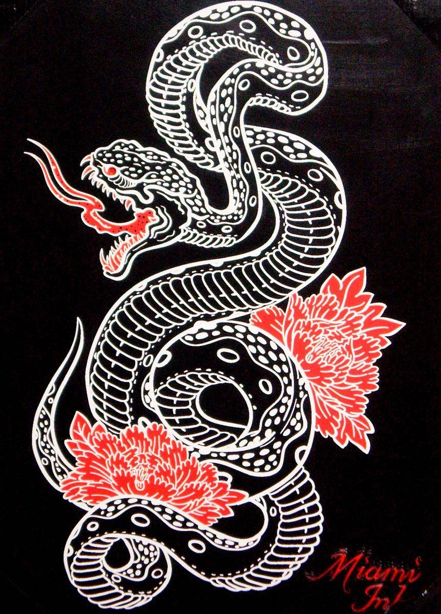 "Tattoo Snake Wall Artmiami Ink 19"" X New – Ad#: 1627105 – Addoway Inside Latest Tattoo Wall Art (View 12 of 20)"
