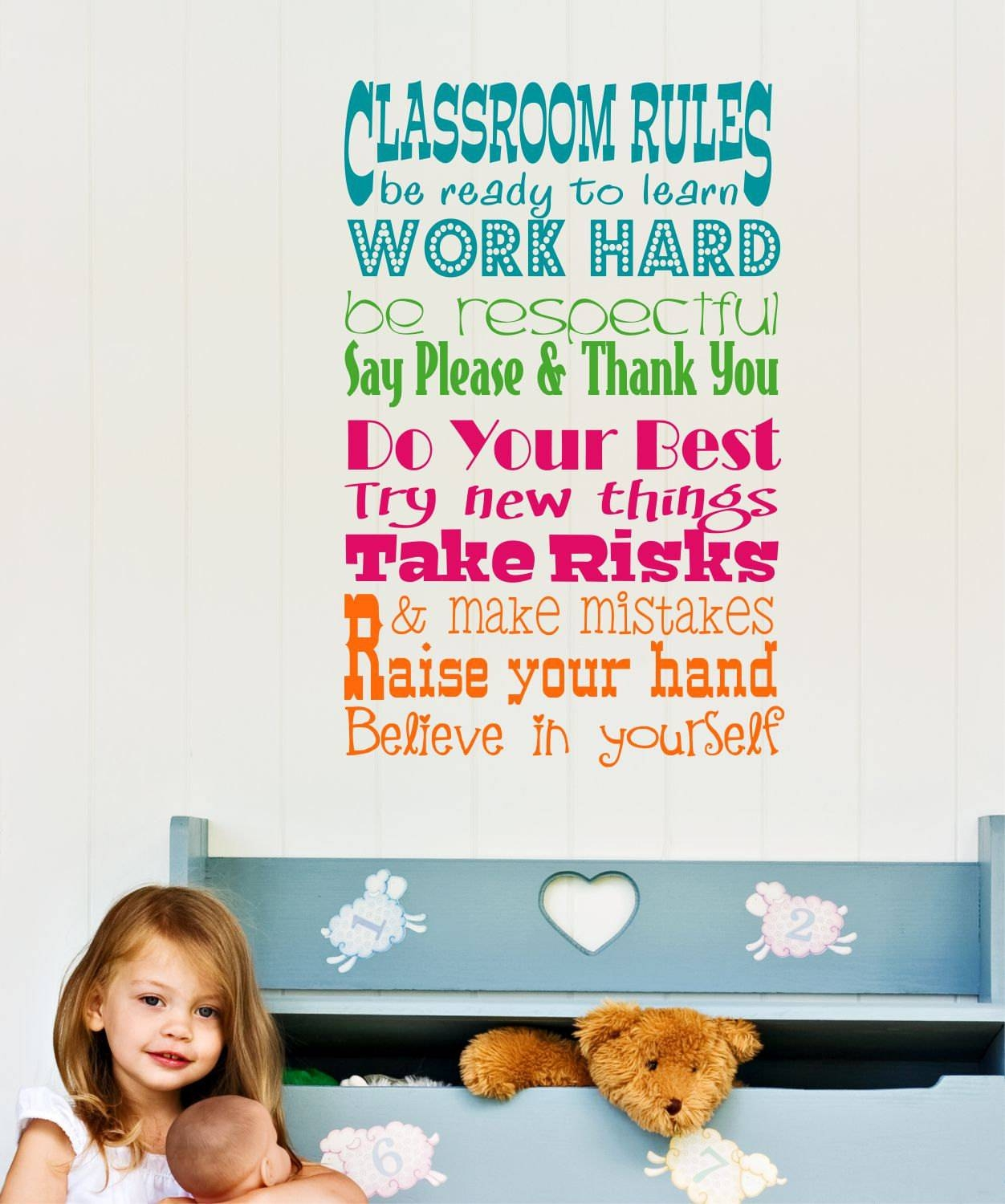 Featured Photo of Classroom Vinyl Wall Art