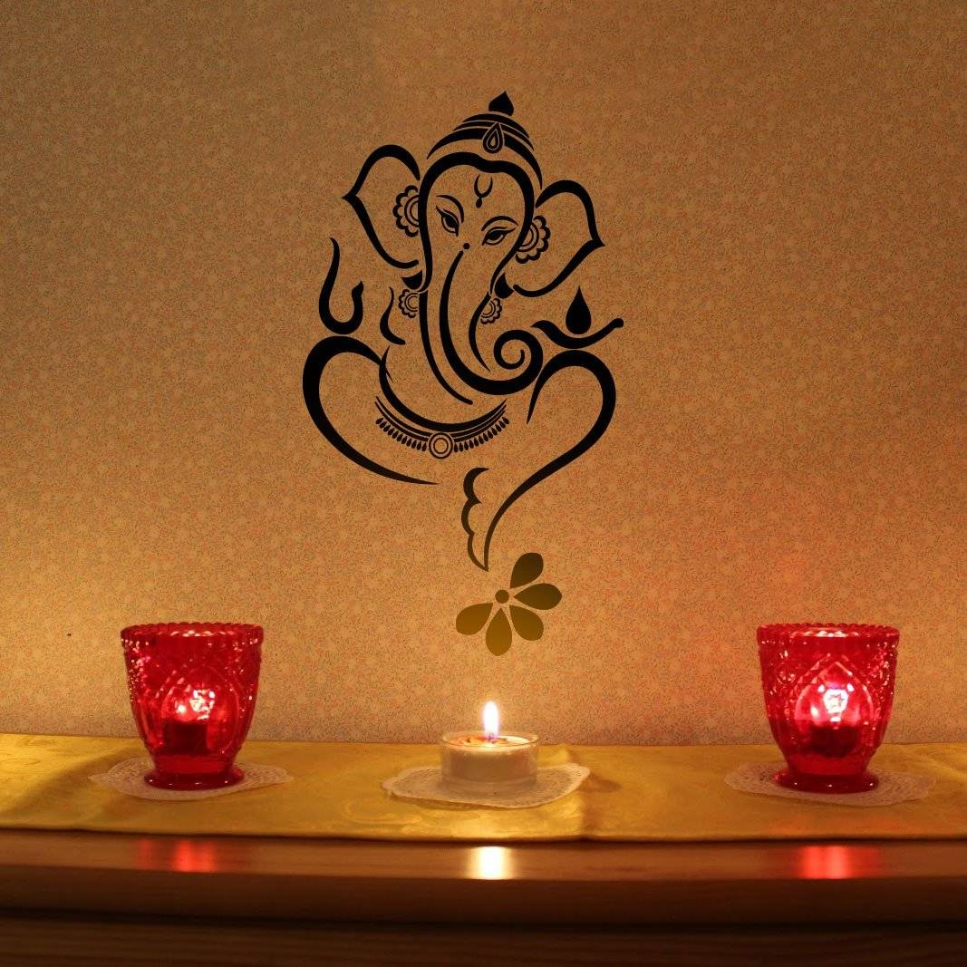 Terrific Ganesh Metal Wall Art Home A Home Decor Quilling Ganesha For Current Ganesh Wall Art (View 19 of 20)