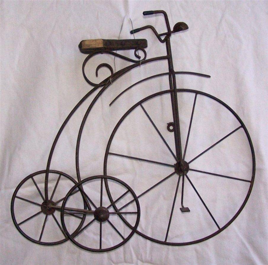 Terrific Red Metal Bicycle Wall Art D Copper Tone Bicycle Tandem In Most Up To Date Bicycle Metal Wall Art (View 4 of 20)