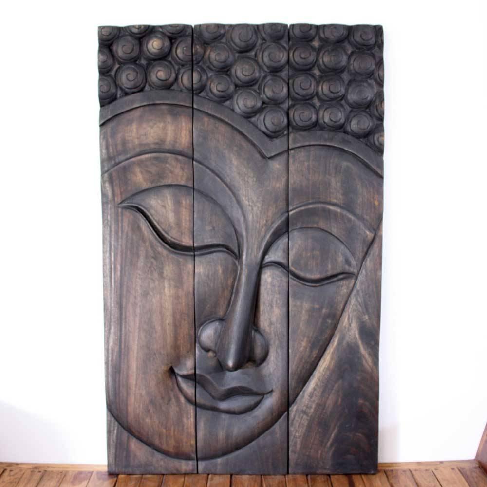 Thai Decor Wall Art, Buddha Wood Panels Beautiful Thai Wall Decor (View 5 of 20)