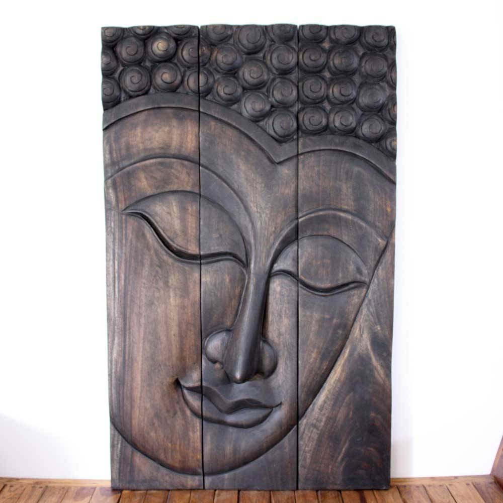 Thai Decor Wall Art, Buddha Wood Panels Beautiful Thai Wall Decor (View 7 of 20)