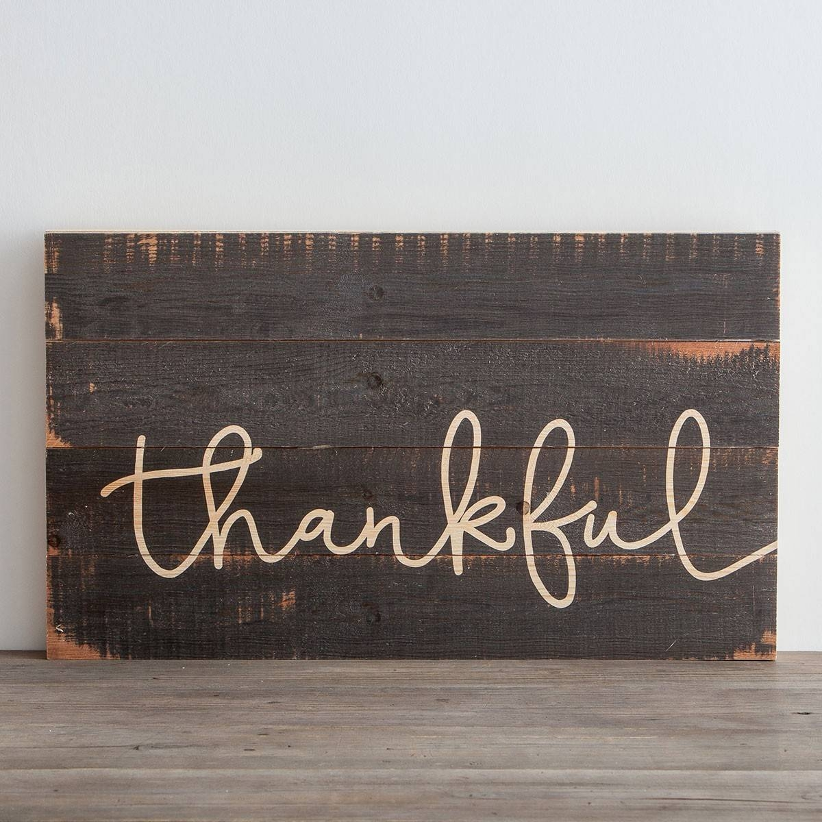 Thankful – Wooden Wall Art | Dayspring With Regard To Most Current Natural Wood Wall Art (View 14 of 20)