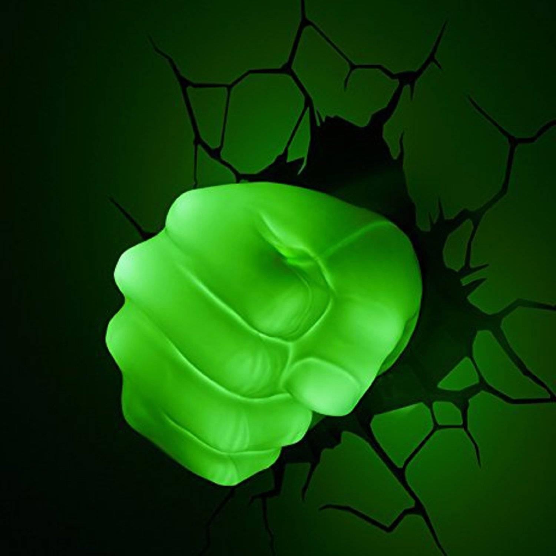 The Avengers 3D Wall Art Nightlight – Hulk Hand | This Stuff Online For Newest Marvel 3D Wall Art (View 9 of 20)