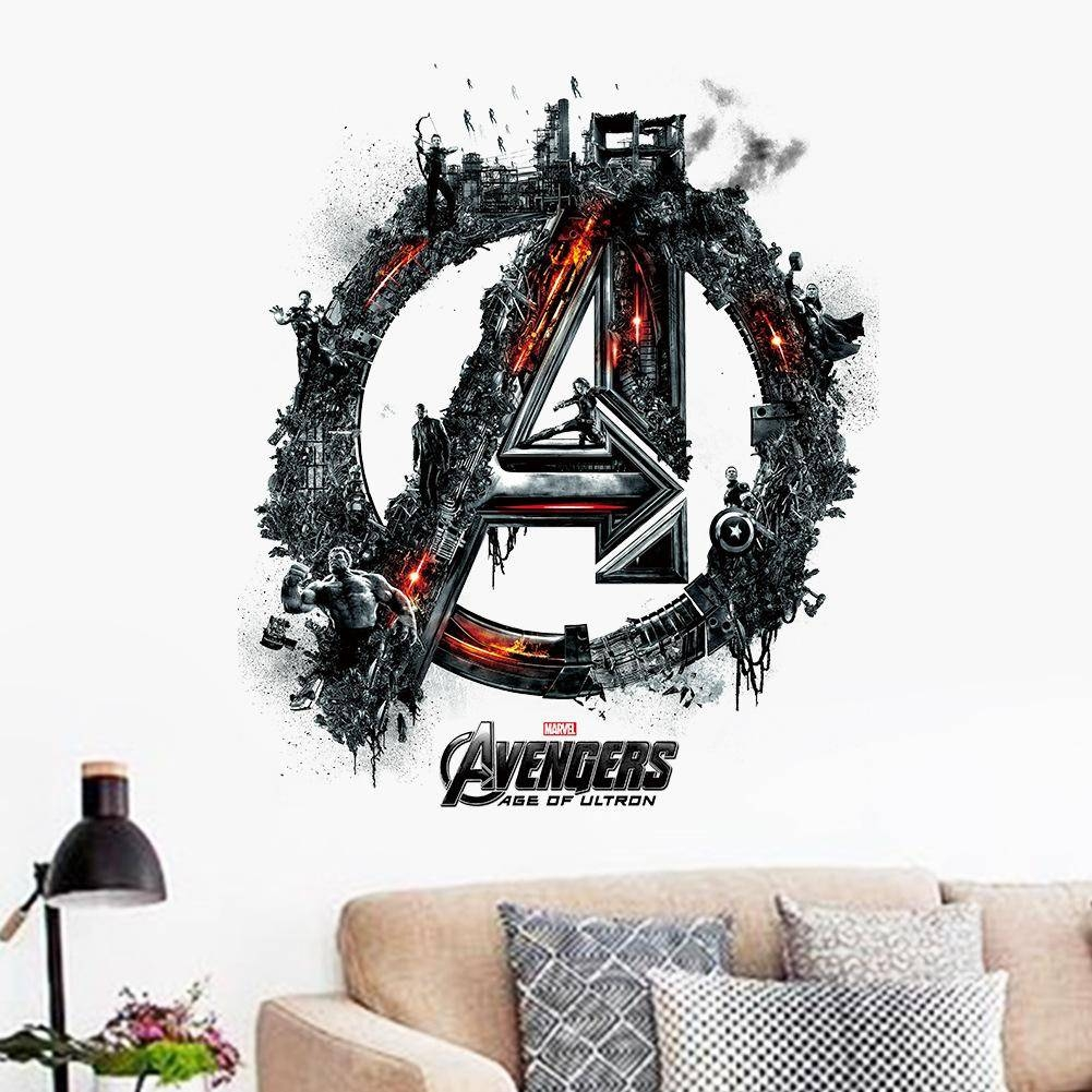 The Avengers Words Art Wall Decals Kids Sticker Removable Room Intended For Best And Newest 3d Wall Art Words (View 15 of 20)